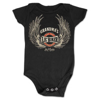 J&P Cycles® Grandma's Lil' Wings Black Onesie