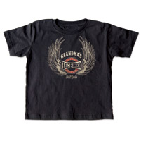 J&P Cycles® Grandma's Lil' Wings Black Toddler Tee