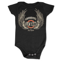 J&P Cycles® Grandpa's Lil' Wings Black Onesie
