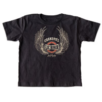 J&P Cycles® Grandpa's Lil' Wings Black Toddler Tee