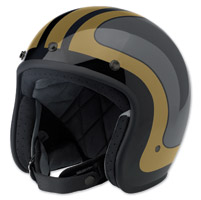 Biltwell Inc. Bonanza Fury Black/Gray/Gold Open Face Helmet