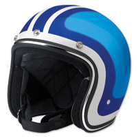 Biltwell Inc. Bonanza Fury White/Blue/Black Open Face Helmet
