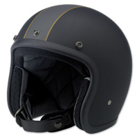 Biltwell Inc. Bonanza Racer Black/Gray/Gold Open Face Helmet