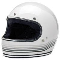 Biltwell Inc. Gringo Spectrum Gloss White Full Face Helmet