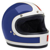 Biltwell Inc. Gringo Tracker Red/White/Blue Full Face Helmet