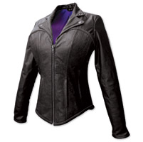 Missing Link Corsica Ladies Black Leather Jacket
