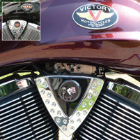 Motordog69 Cheese Wedge Coin Mount with Aces & 8's Coin