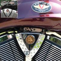 Motordog69 Cheese Wedge Coin Mount with Armor Of God Brass Coin