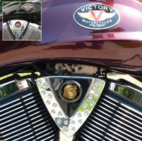 Motordog69 Cheese Wedge Coin Mount with Marine Bulldog Coin