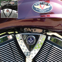 Motordog69 Cheese Wedge Coin Mount with Masonic Coin