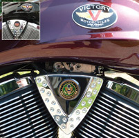 Motordog69 Cheese Wedge Coin Mount with Veteran Army Coin