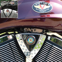 Motordog69 Cheese Wedge Coin Mount with Veteran Coast Guard Coin