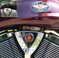 Motordog69 Cheese Wedge Coin Mount with Veteran Marine Coin