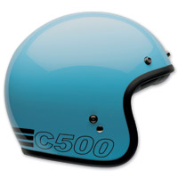 Bell Custom 500 Retro Blue Open Face Helmet