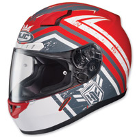 HJC C-17 Mech Hunter Red Full Face Helmet