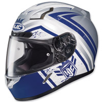 HJC C-17 Mech Hunter Blue/White/Gray Full Face Helmet