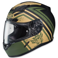 HJC C-17 Mech Hunter Green/Black/Tan Full Face Helmet