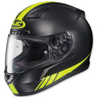 HJC CL-17 Streamline Black/Hi Viz Green Full Face Helmet