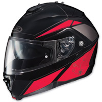 HJC IS-MAX II Elemental Black/Red Modular Helmet