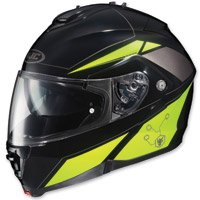 HJC IS-MAX II Elemental Black/Hi Viz Green Modular Helmet