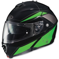 HJC IS-MAX II Elemental Black/Green Modular Helmet