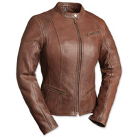First Manufacturing Co. First Fashionista Ladies Brown Leather Jacket