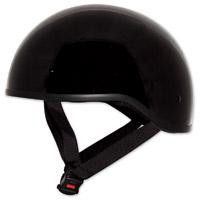 Zox Mikro Old School Gloss Black Half Helmet