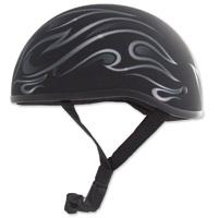 Zox Mikro Old School Flame Matte Black Half Helmet