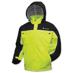 Frogg Toggs Pilot Frogg Cruiser Black/Hi-Viz Green Rain Jacket