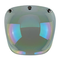 Biltwell Inc. 3-Snap Rainbow Mirror/Smoke Tint Bubble Shield