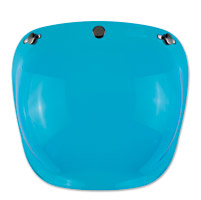 Biltwell Inc. 3-Snap Blue Bubble Shield