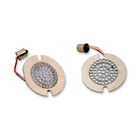 Custom Dynamics White LED Bullet/Deuce-Style Turn Signal Inserts