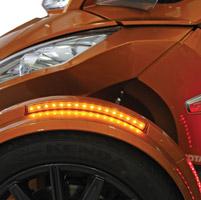 Custom Dynamics Amber Long BRIGHTSIDES LED Lights