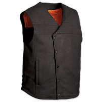 First Manufacturing Co. The Jaguar Men's Black Leather Vest
