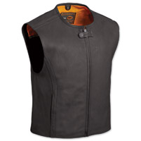 First Manufacturing Co. The Cleveland Men's Black Leather Vest