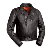 First Manufacturing Co. The 60's New Yorker Men's Black Leather Jacket