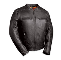 First Manufacturing Co. The High Roller Men's Black Leather Jacket