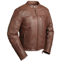 First Manufacturing Co. The Manchester Men's Brown Leather Jacket