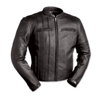First Manufacturing Co. The Cafe A-Lister Men's Black Leather Jacket
