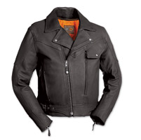 First Manufacturing Co. Major Ego Men's Black Leather Jacket