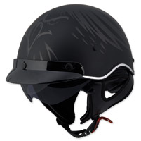 LS2 SC3 Eagle Head Half Helmet