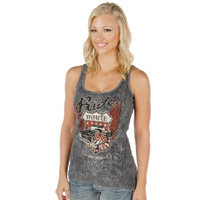 Liberty Wear Rt. 66 Ladies Grey Tank Top