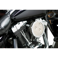 Arlen Ness Chrome Derby Sucker Air Cleaner Kit with Synthetic Filter
