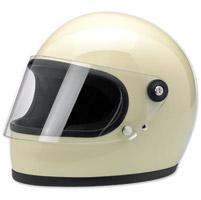 Biltwell Inc. Gringo S Gloss Vintage White Full Face Helmet