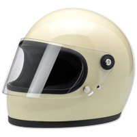 Biltwell Inc. Gringo S Gloss White Full Face Helmet