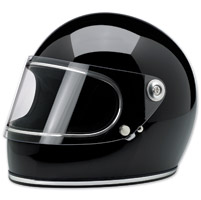 Biltwell Inc. Gringo S Gloss Black Full Face Helmet