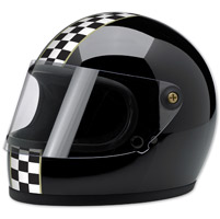 Biltwell Inc. Gringo S LE Checker Gloss Black Full Face Helmet