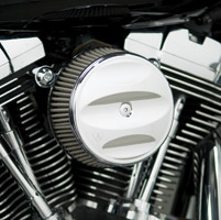 Arlen Ness Stage I Billet Big Sucker Kit, Scalloped Chrome Cover