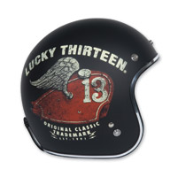 Torc T50 Lucky 13 Wing Tank Black Open Face Helmet