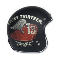 Torc T50 Lucky 13 Wing Tank Black Open Face Helmet